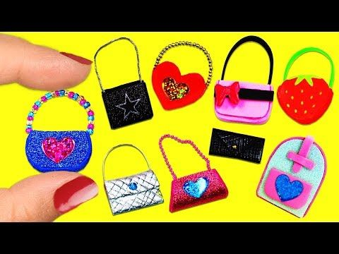 How to make 100% Real Miniature Nail Care Supplies, Nail Polish - 10 Easy DIY Miniature Doll Crafts - YouTube