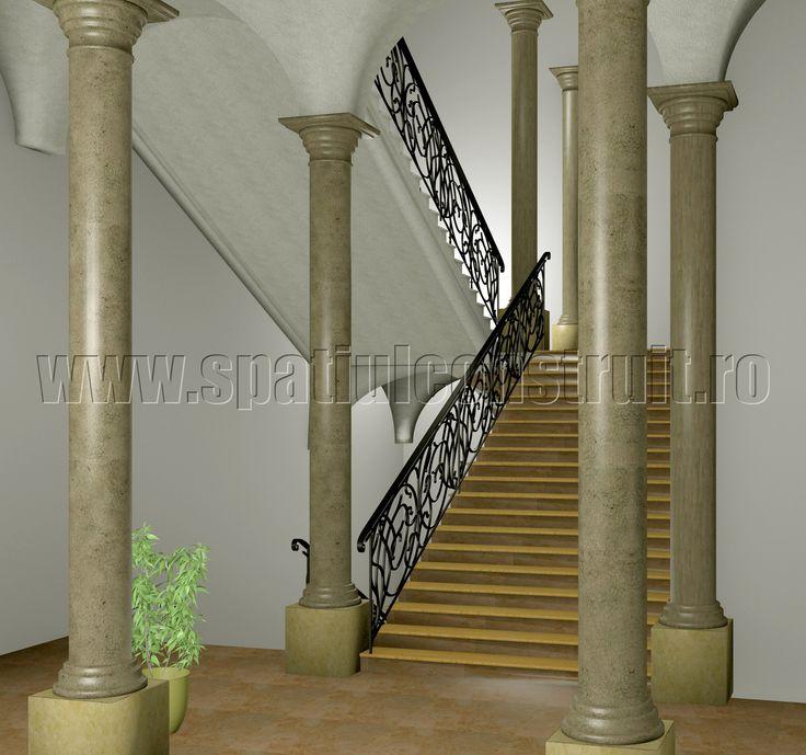 Staircases: general concepts & classifications/ Scari: notiuni generale, clasificari >> Monumental staircase/ Scara monumentala