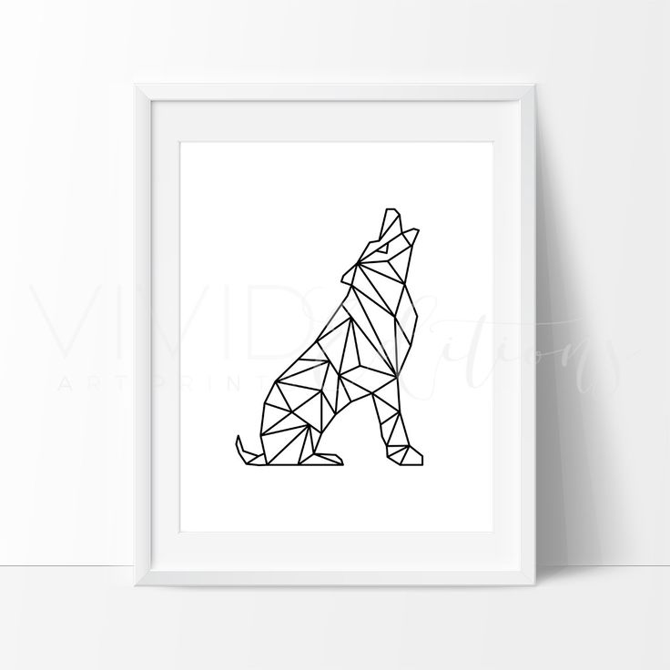 - Description - Specs - Processing + Shipping - Poly Geometric Wolf Animal Art Print. Our designs make an attractive, modern contemporary wall piece for your baby nursery, home, office or even as a gi