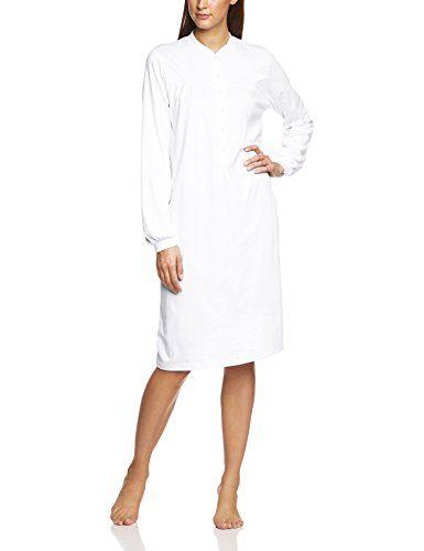 Calida Damen Nachthemd Soft Cotton Einfarbig Gr. 50 (Herstellergröße: L 48/50)…