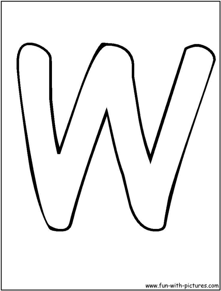 Bubble Letter E Coloring Pages | Bubble Letters W Coloring Page - bubble-letter