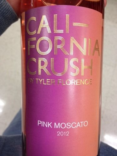 Tyler florence california crush pink moscato 2012 for Drinks with pink moscato