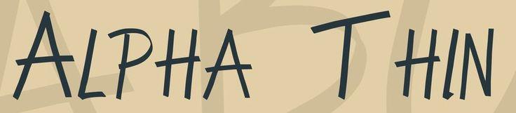 Alpha Thin Font