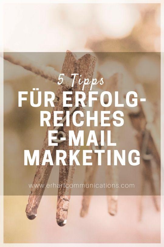 E-Mail Marketing gehört zum Standard im Online Marketing und bietet viel Potential. Hier 5 Tipps für erfolgreiches E-Mail Marketing.