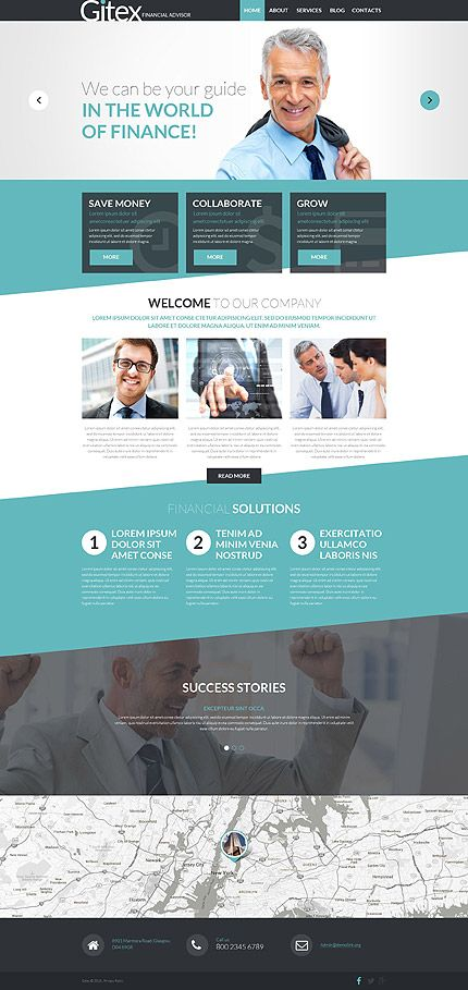 Financial Advisor Services Website #WordPress #template. #themes #business #responsive