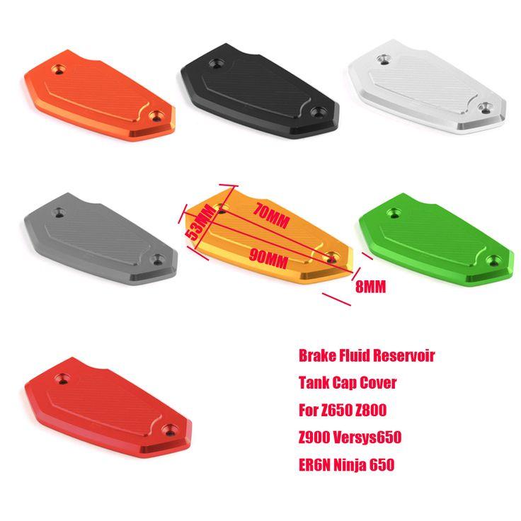 US $9.60 Motorcycle For Kawasaki Z900 Z800 Z650 ER6N ER6F Versys650 Ninja 650 CNC Aluminum Front Brake Fluid Reservoir Tank Cap Cover New #Motorcycle #Kawasaki #Z900 #Z800 #Z650 #ER6N #ER6F #Versys650 #Ninja #Aluminum #Front #Brake #Fluid #Reservoir #Tank #Cover