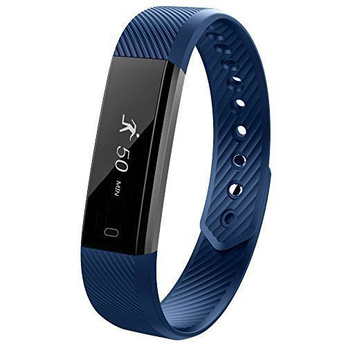 NEW Fitness Watch Tracker Smartband Sleep Monitor Distance Calories Counter Blue #FitnessWatchTrackerSmartband