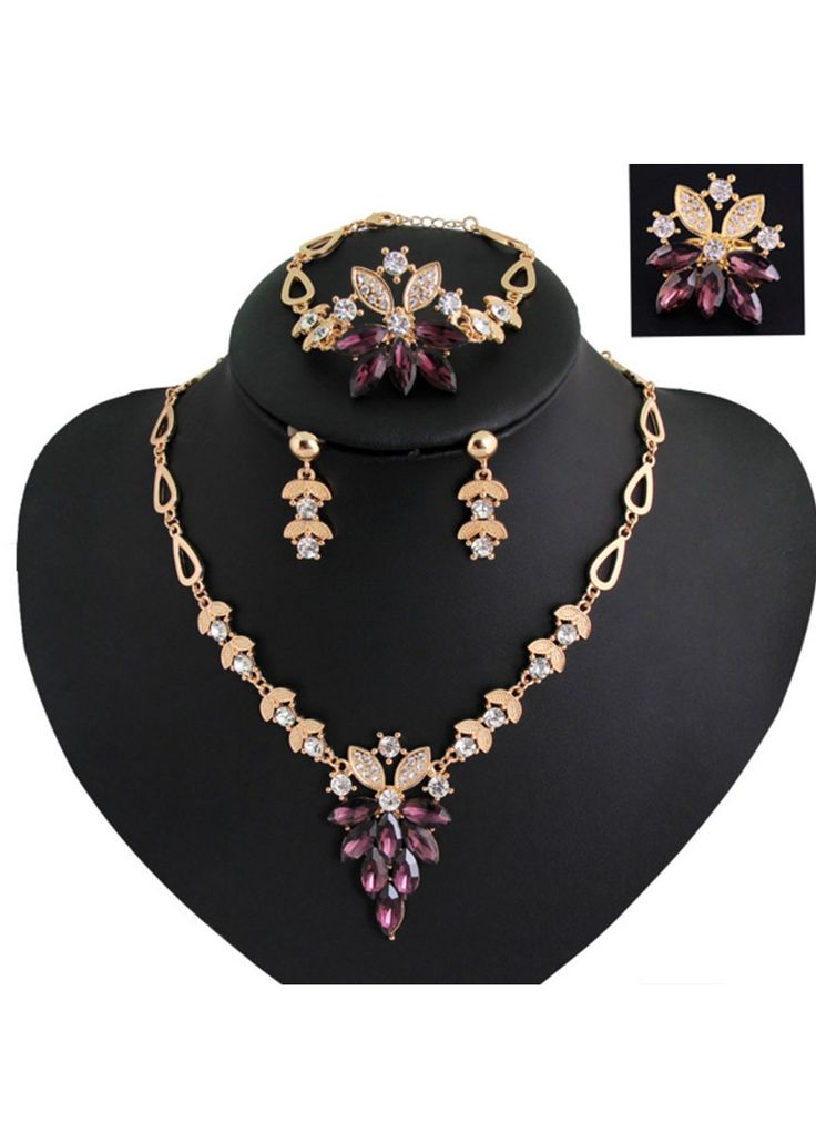 Vintage Style Women Crystal Jewelry Set _Jewelry & Accessories_Sexy Lingeire | Cheap Plus Size Lingerie At Wholesale Price | Feelovely.com