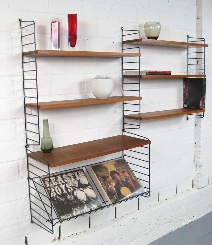 Nisse Strinning,String Regal,Wall Unit,Cadovius Kai Kristiansen Ära,Mid Century