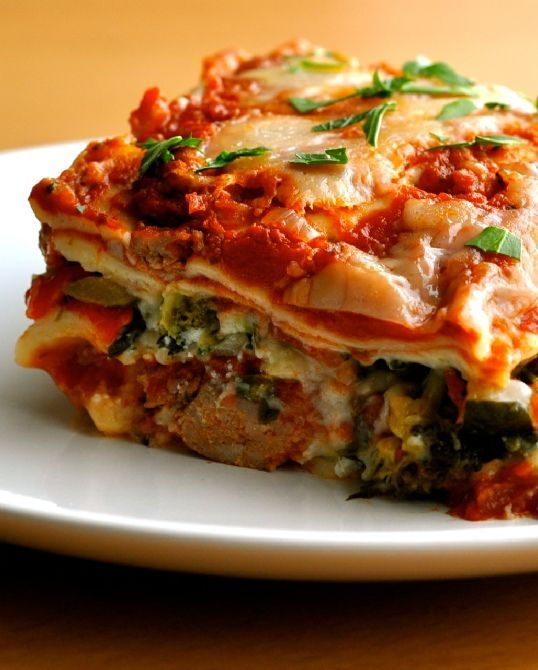 Low FODMAP Recipe and Gluten Free Recipe - Roasted vegetable lasagne (update) http://www.ibssano.com/low_fodmap_recipe_roasted_vegetable_lasagne.html