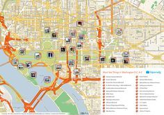 Printable tourist map of Washington