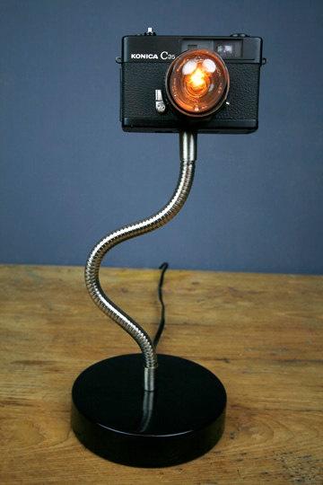 Upcycled Camera Lamp!