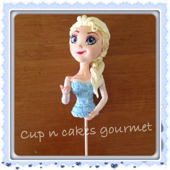 Queen Elsa Cake Decorations : Queen Elsa (Frozen) cake topper for dress cake Frozen ...