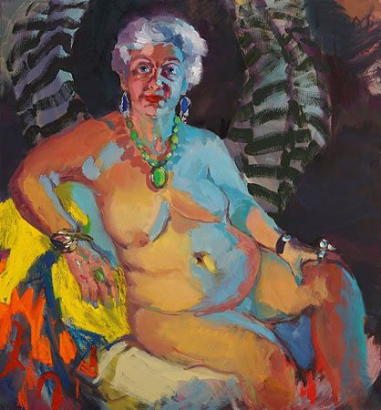 Wendy Sharpe's portrait of Jill Mackay won biennial 2013 Manning Art Prize