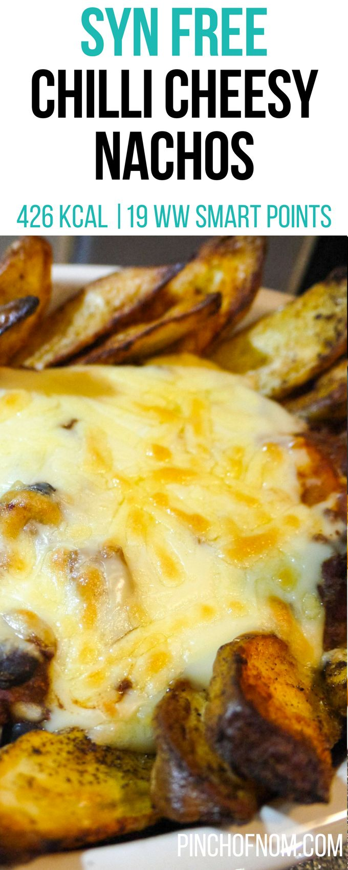 Replace the beef with Quoen mince and the beef stock with veg...  Syn Free Chilli Cheesy Nachos | Pinch Of Nom Slimming World Recipes    426 kcal | Syn Free | 19 Weight Watchers Smart Points