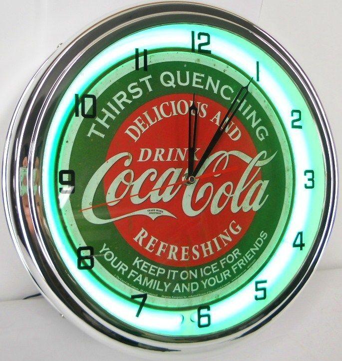 178 best NEON CLOCKS images on Pinterest Neon clock Wall clocks