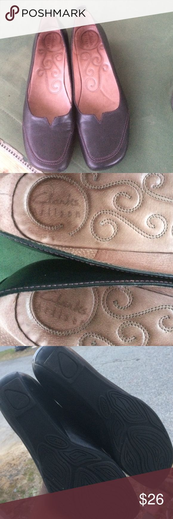 Clark shoes Adorable, gently loved clarks. Impeccable craftsmanship, and super comfy. Pairs well with most outfits. Shoes