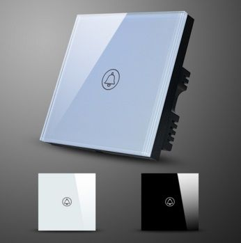 EU/UK Standard glass panel wireless doorbell touch switch Touch Screen Doorbell Switch Waterproof Glass Panel  http://mjhomeshopping.blogspot.com/2015/11/electrical-wall-switches-4.html