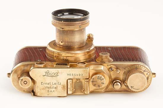Karl Henkell's gold-plated 'Luxus' Leica camera from 1931
