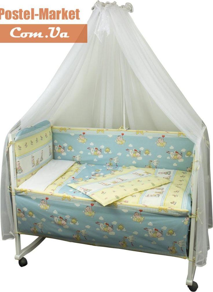 Постельное белье в кроватку Руно Буслик (932Журавлик) купить в интернет магазине Постель Маркет (Киев, Украина)