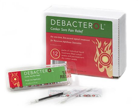 Debacterol for treatment of Canker Sores.