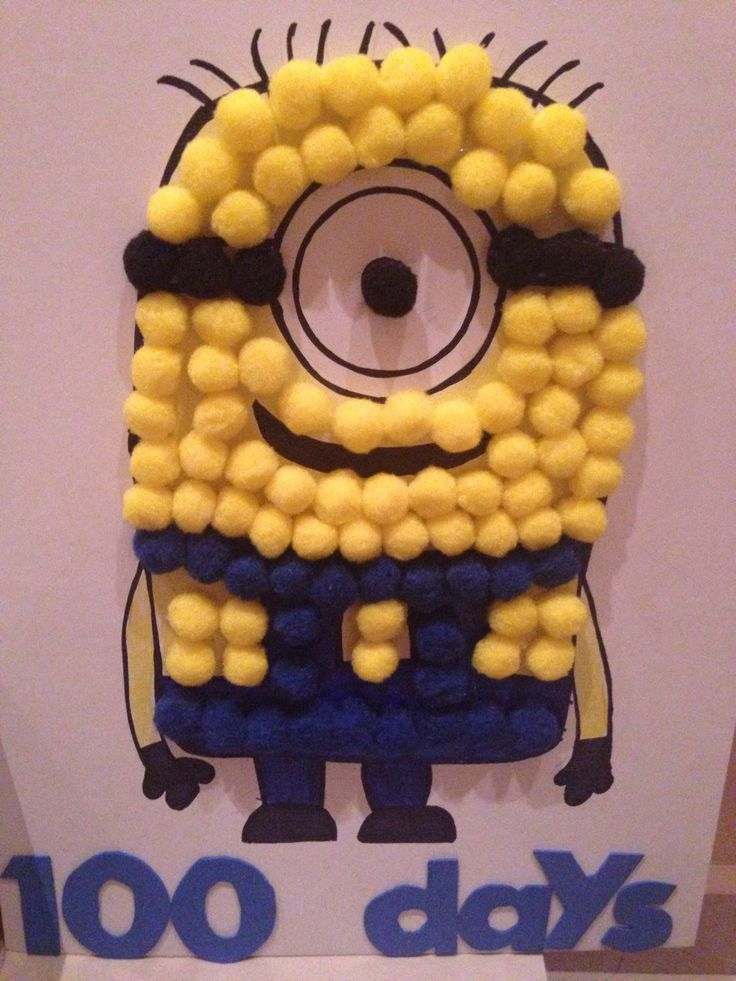 100 days of school project; minion!