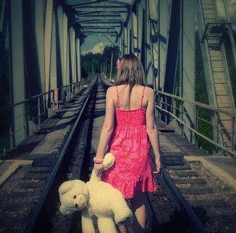 Lonely girl with teddy bear facebook profile picture   TricksPK