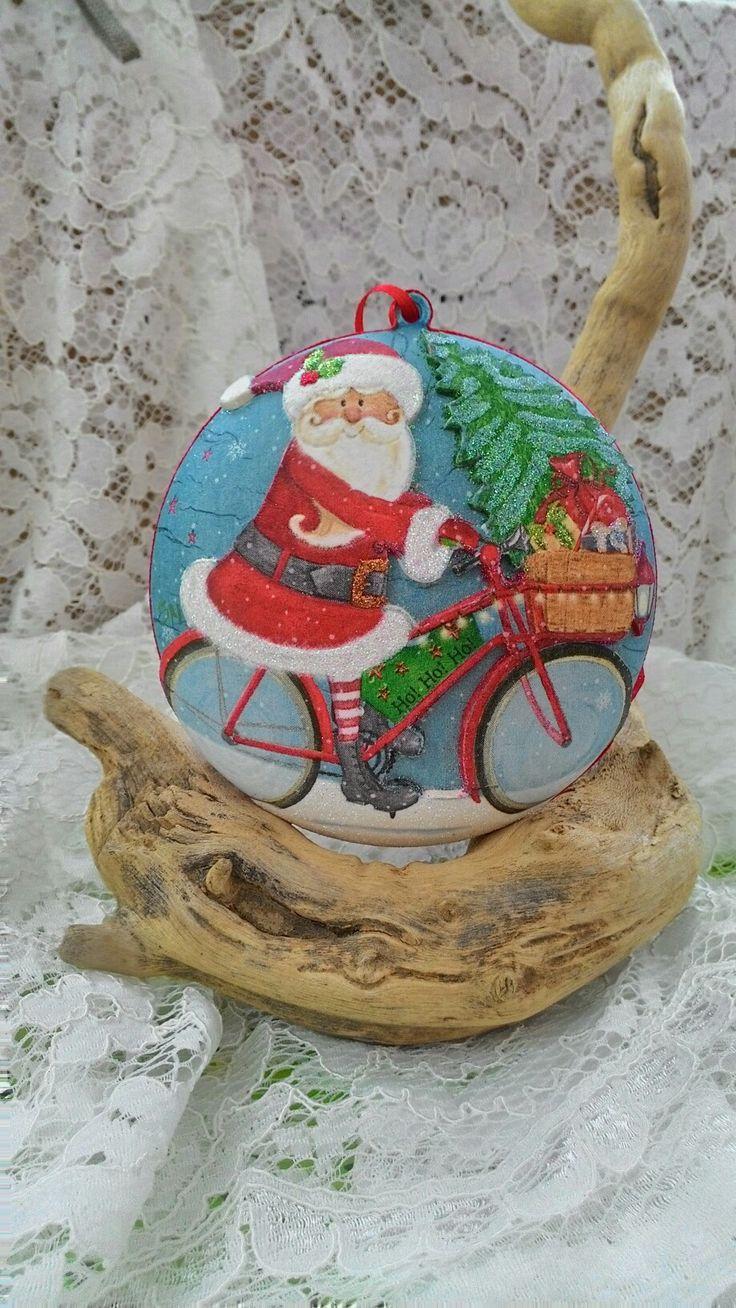 Med. Babbo Natale in bicicletta