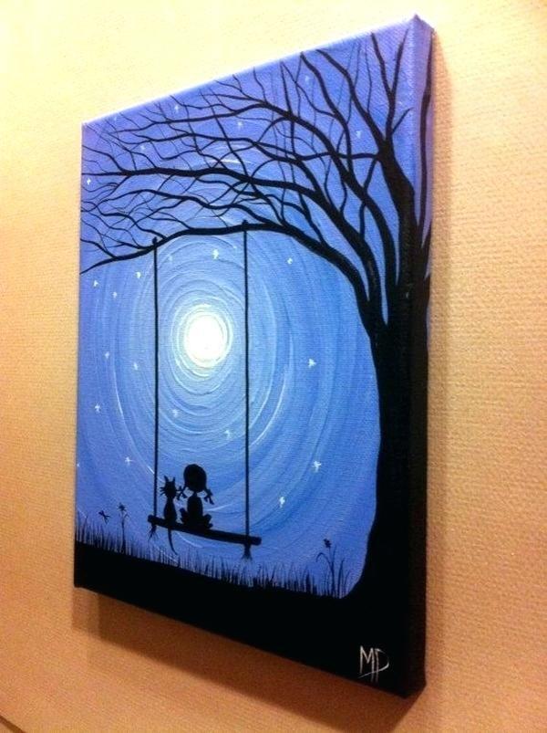 Easy To Paint Canvas Designs More Painting Ideas For Living Room Ideias Para Telas Arte Em Tela Artesanal