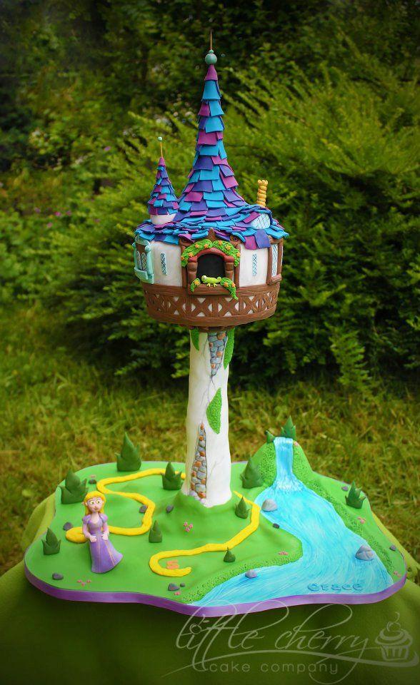 Rapunzel Castle Tower Cake