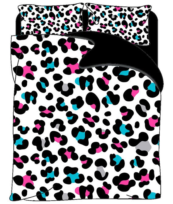 Custom Cheetah Bedding Set  Color Black with by redbeauty on Etsy