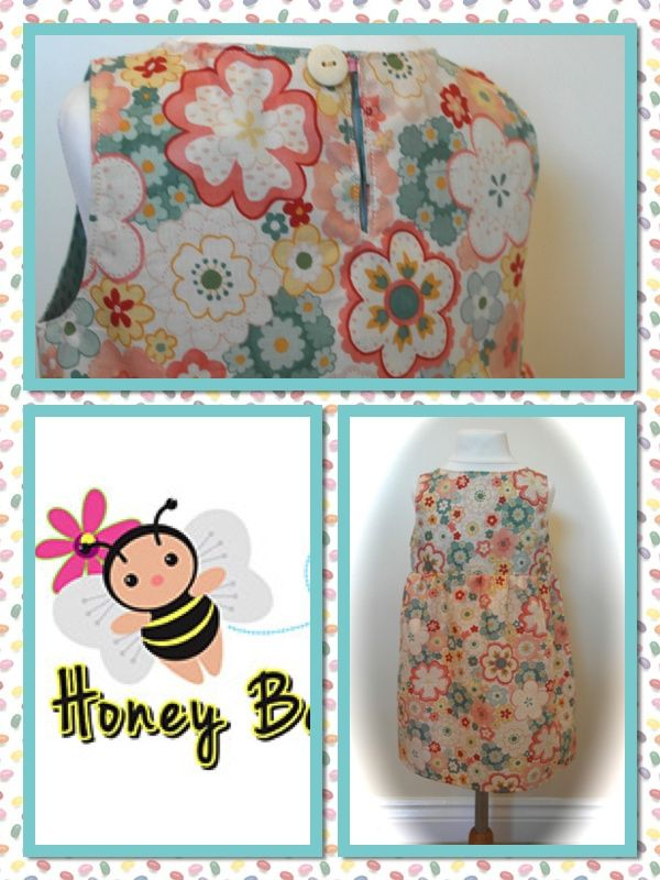 totally gorgeous Vintage Floral dress - hope you love it x  Ages from 9mths - 7 years   Find me at www.facebook.com/honeybeesboutiqueUK