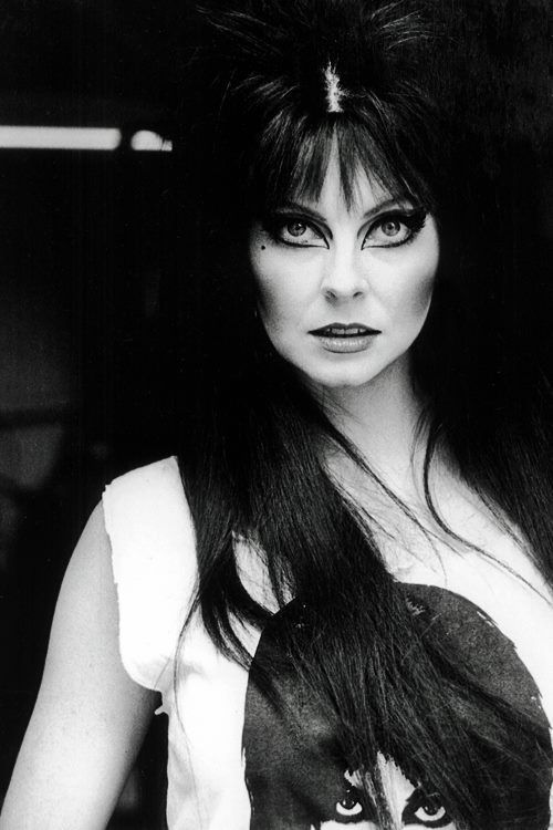 Elvira, I remember her TV show came on late nights on Saturdays in the 80s!!