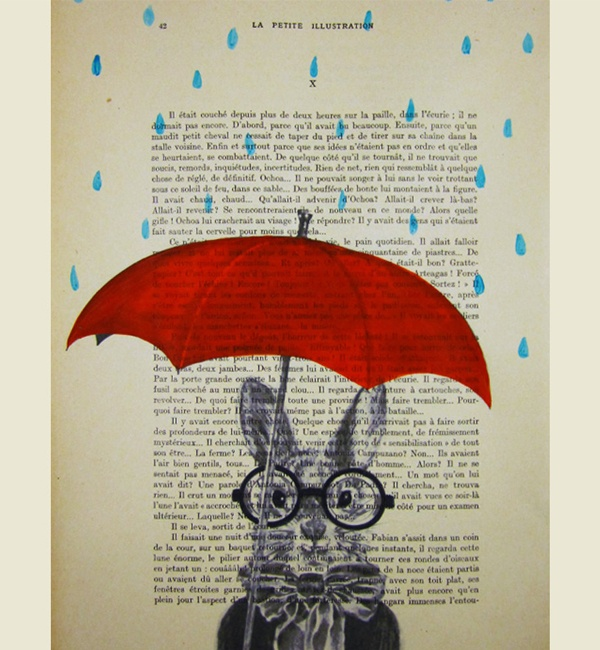 Unique Art Raining Rabbit