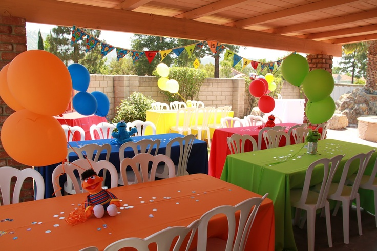 sesame street party decor - Google Search