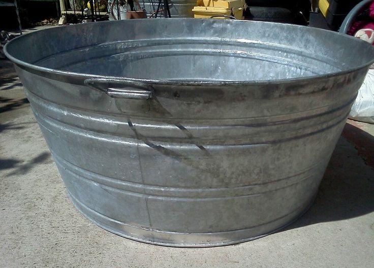 Amazing Excellent Huge Wash Tub Basin Galvanized Steel Garden Planter Cooler Local  Pick Up With Galvanized Steel Tubs Gardening
