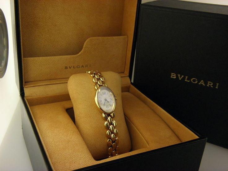 bvlgari ov 27 g oval 18k yellow gold quartz womens watch bulgari