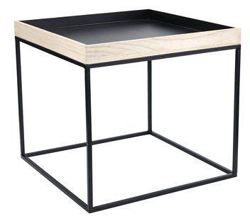 Stół DAMHALE z tacą nat./czarny | JYSK