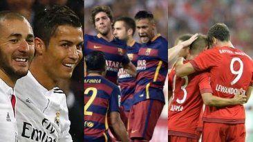 Barcelona, Real Madrid y Bayern Munich son los favoritos al titulo de la Champions League. Set 14, 2015.