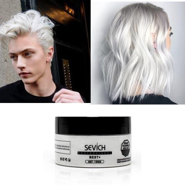 Unisex Temporary White Hair Dye Dyed Hair Box Hair Dye