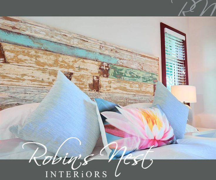 It is so easy to create a focal point in your room, just add a unique and colourful pillow or paint the headboard a bright colour. For more great ideas and tips on interior #decor, visit #RobinsNest at number 7, Doneraile Square, George. #design