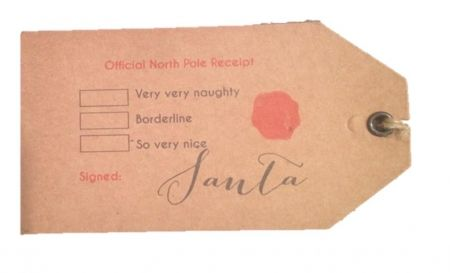 Official North Pole receipt gift tags (set of 6) CHRISTMAS IN #HTFSTYLE