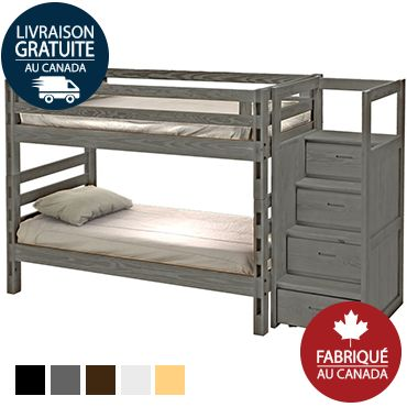 Denver Bunk Bed With Stairs Built In Ladders At Both Ends These