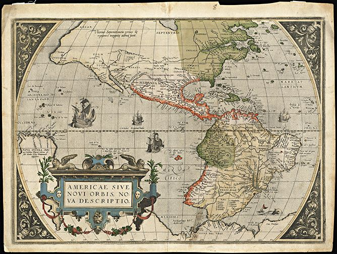 35 best antique world maps images on pinterest antique maps old 1570 antique world map gumiabroncs Image collections