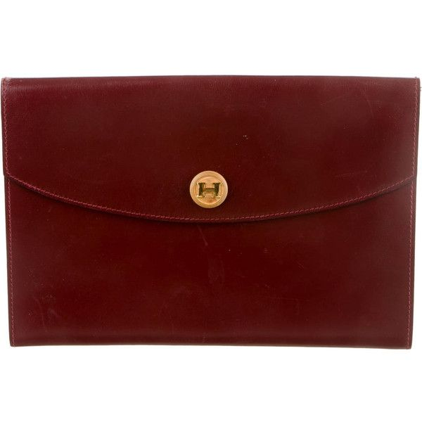 Pre-owned Herm¨¨s Rio Clutch ($745) ? liked on Polyvore featuring ...