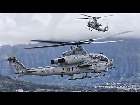 U.S. Marine Corps AH-1Z Viper Helicopters arrive at Marine Corps Air Station, Kaneohe Bay on December 19, 2017. Unit – Marine Light Attack Helicopter Squadron 367 (HMLA-367), Marine Aircraft Group 24, 1st Marine Aircraft Wing. Film Credits: U.S. Marine Corps Video by Sgt. Aaron Patterson...