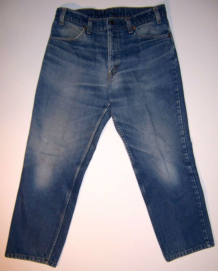 Vintage Levi's 506 Distressed Jeans 32x25 (Tag 34x30) Made in USA Orange Tab Worn Men #Levis #Jeans #MadeinUSA
