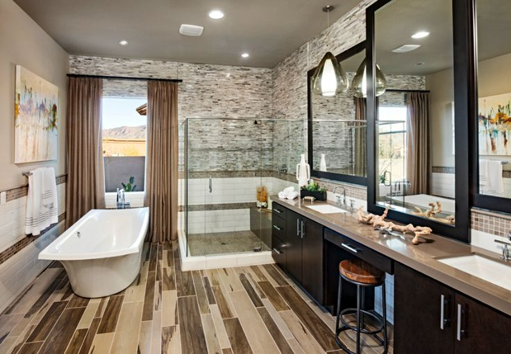 A Beautiful Master Bathroom With Neutral Colors Toll