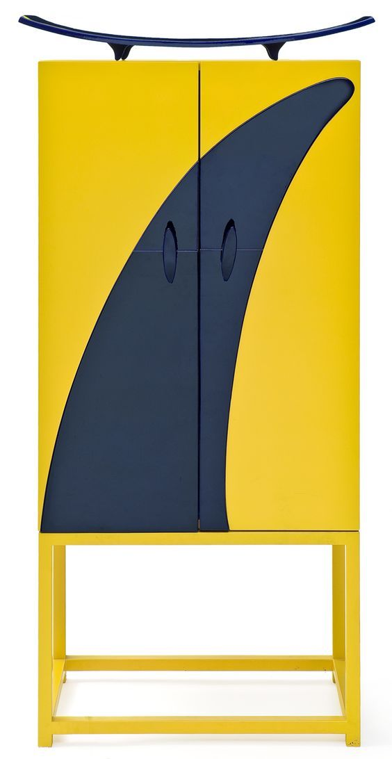 this contemporary cabinet is made of organic visual shapes