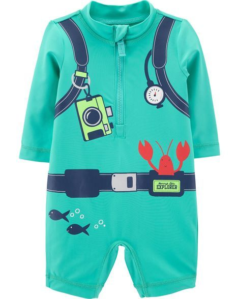 3739c863a8 Baby Boy Carter's Scuba Diver 1-Piece Rashguard from Carters.com. Shop  clothing